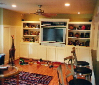 Builtin Cabinets and Media